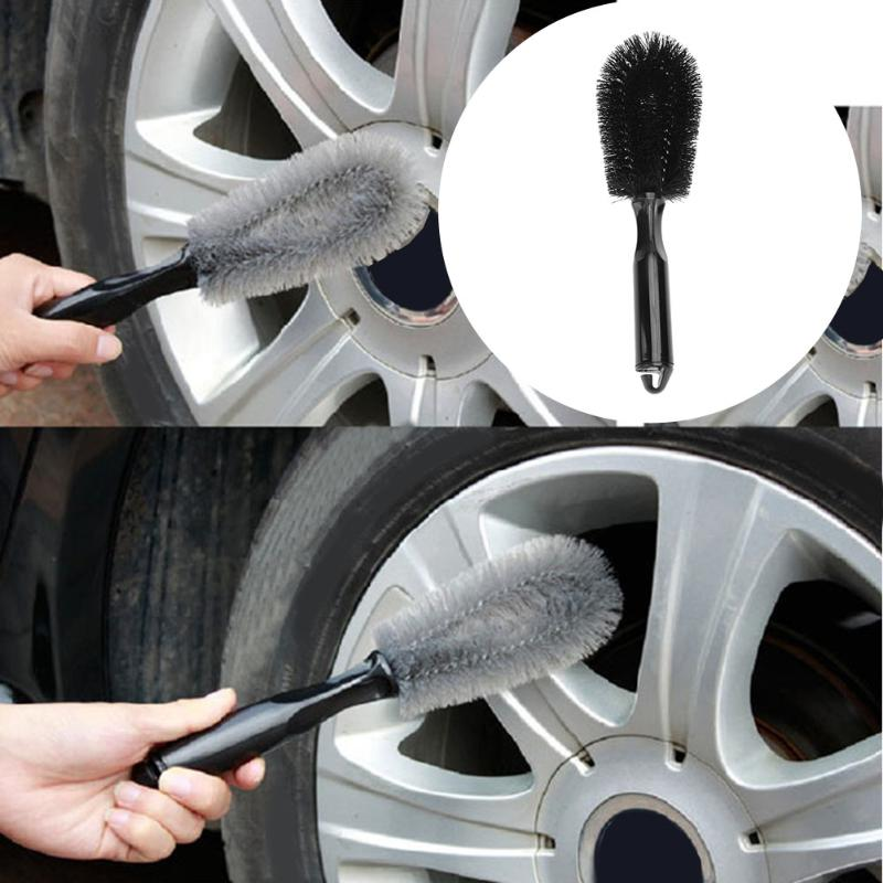 Handle Car Washing Wheel Brush Car Tire Rim Cleaning Brush Tool