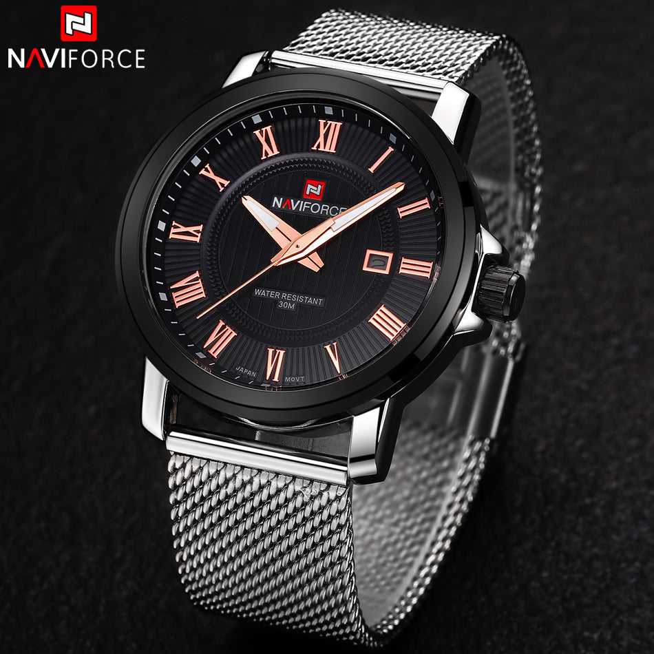 NAVIFORCE Stainless Steel Quartz Watches