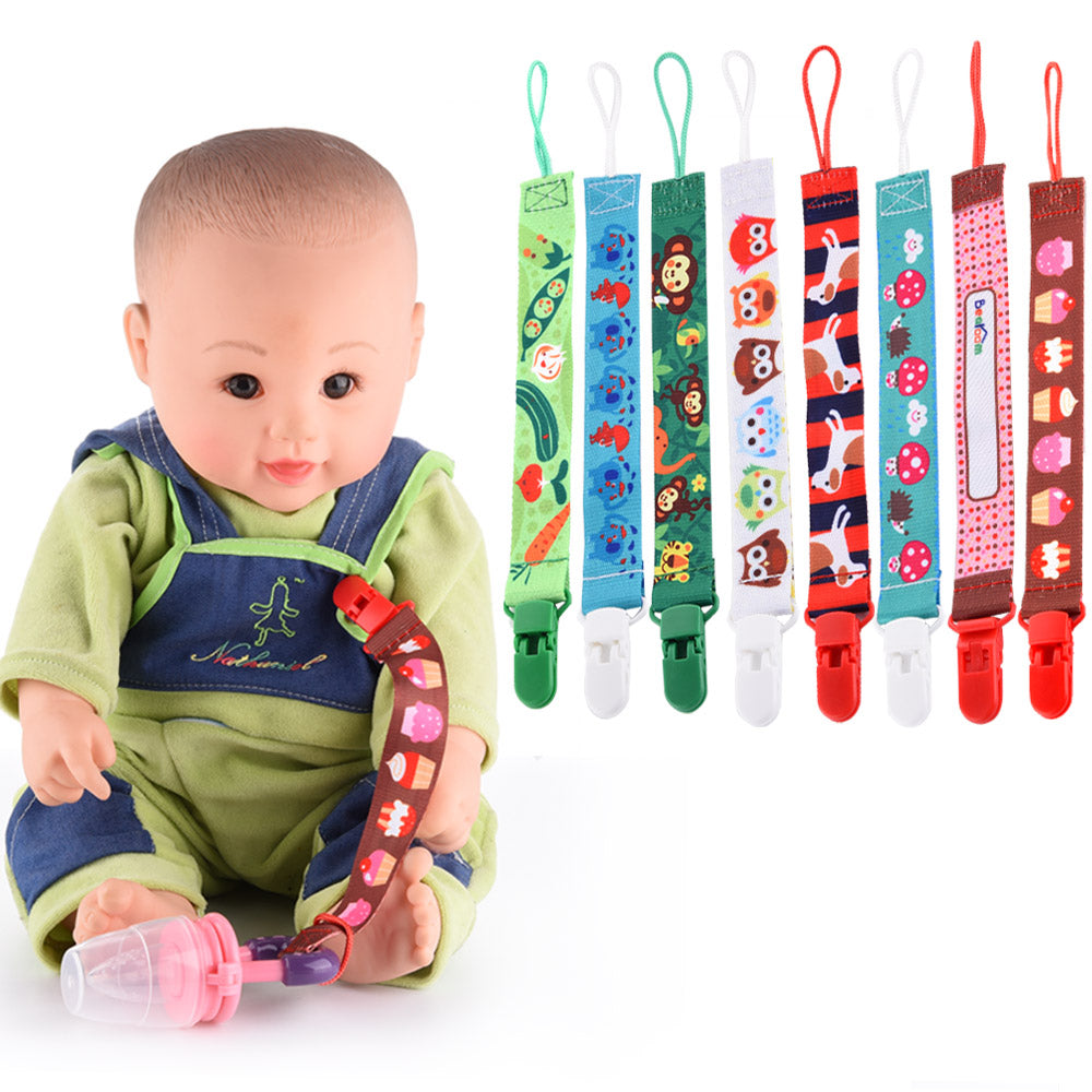 Funny Cartoon Pacifiers Nipples Clip Chain For Baby