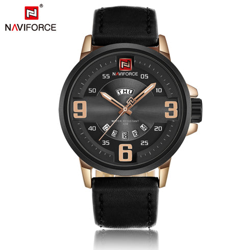 Casual Men's Sports Military Leather Watches with Calendar Function