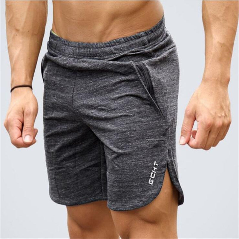 Elastic Waist Printed Cotton Sport & Fitness Men Shorts