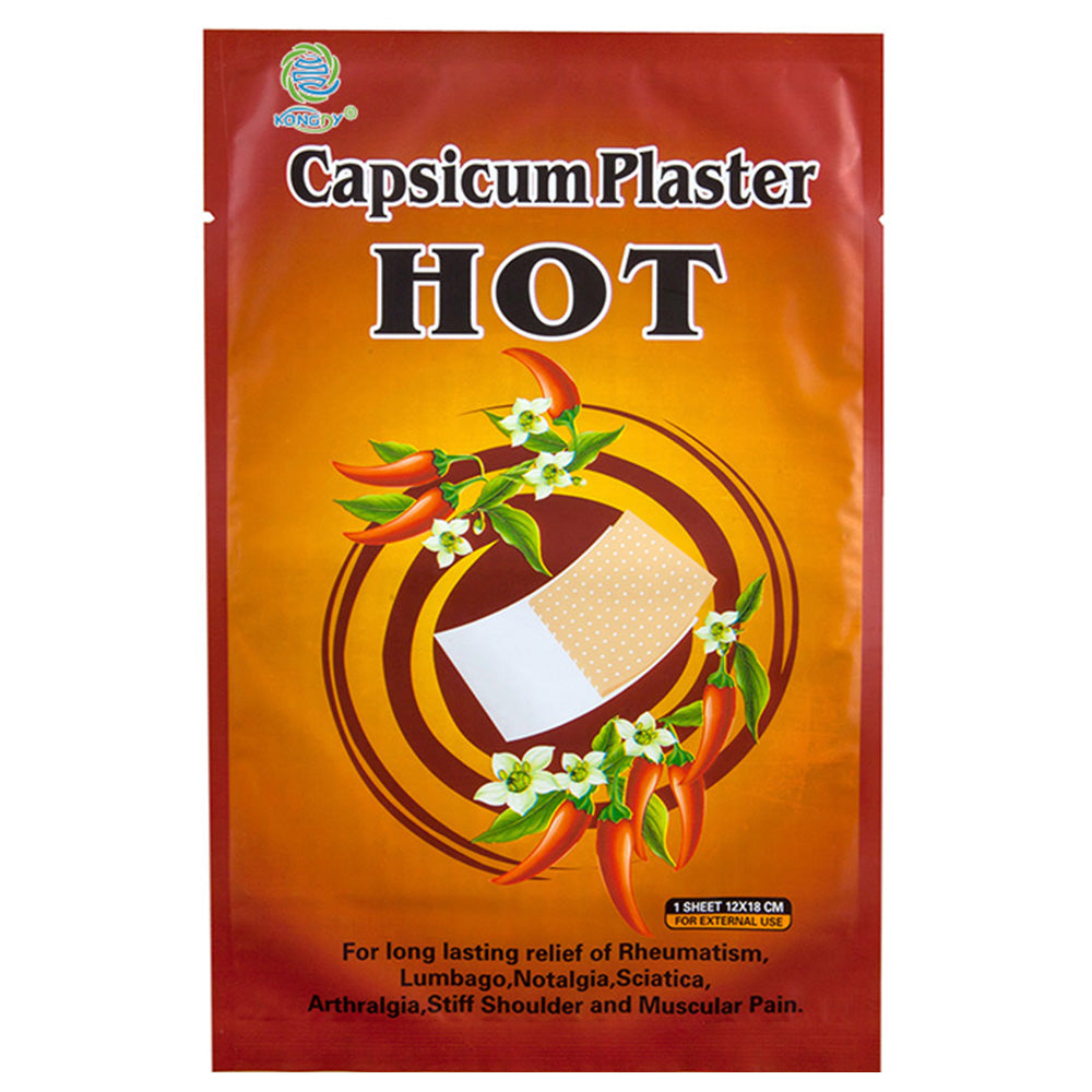 10 Pcs/Bag Pain Hot Capsicum Plaster For Joints Pain Relieving