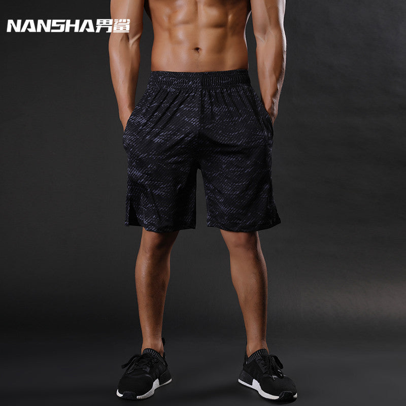 Elastic Waist Mens Compression Fitness Shorts With Pockets