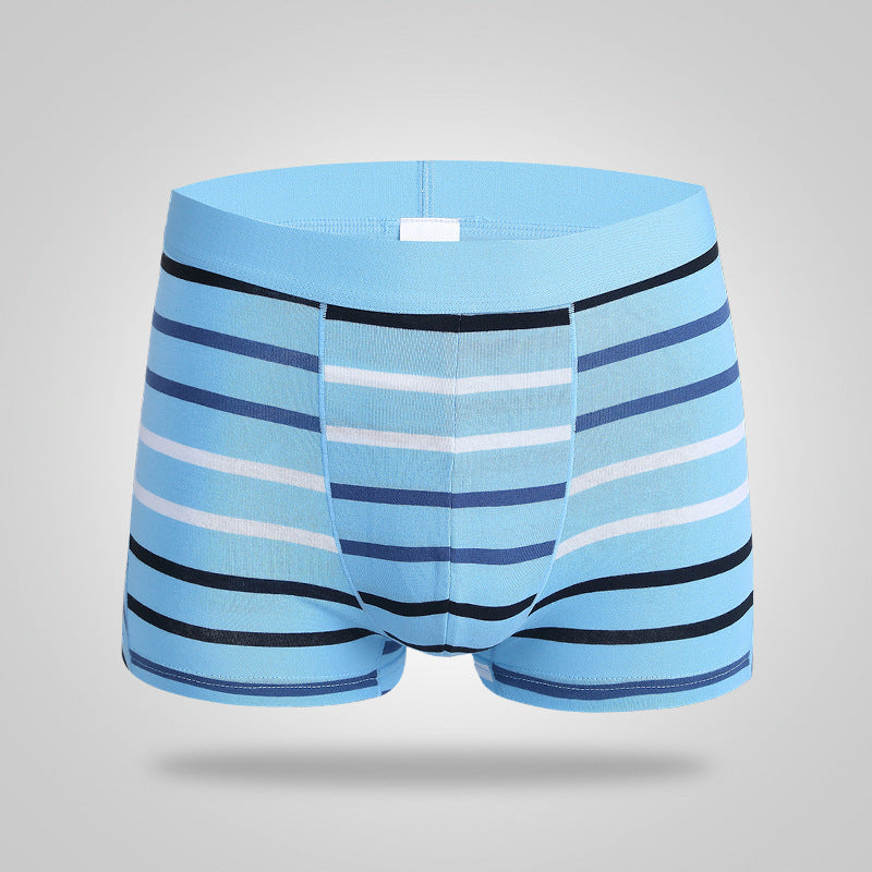Full Cotton Stripe Straight Angle Underwear