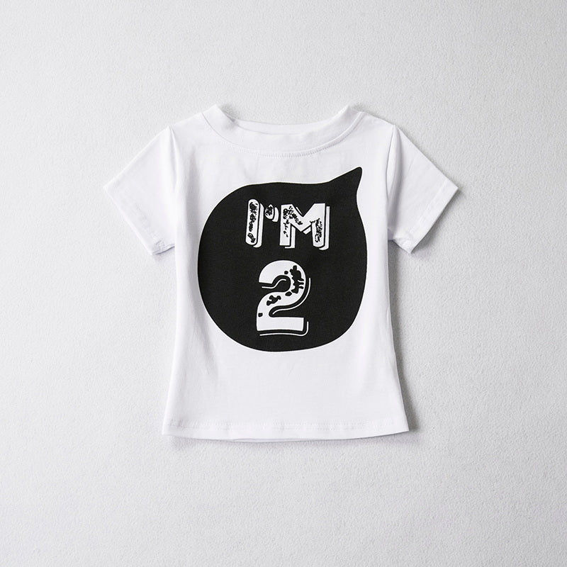 Lovely 1 To 5 Years Birthday Short Sleeve Cotton Unisex T-Shirt