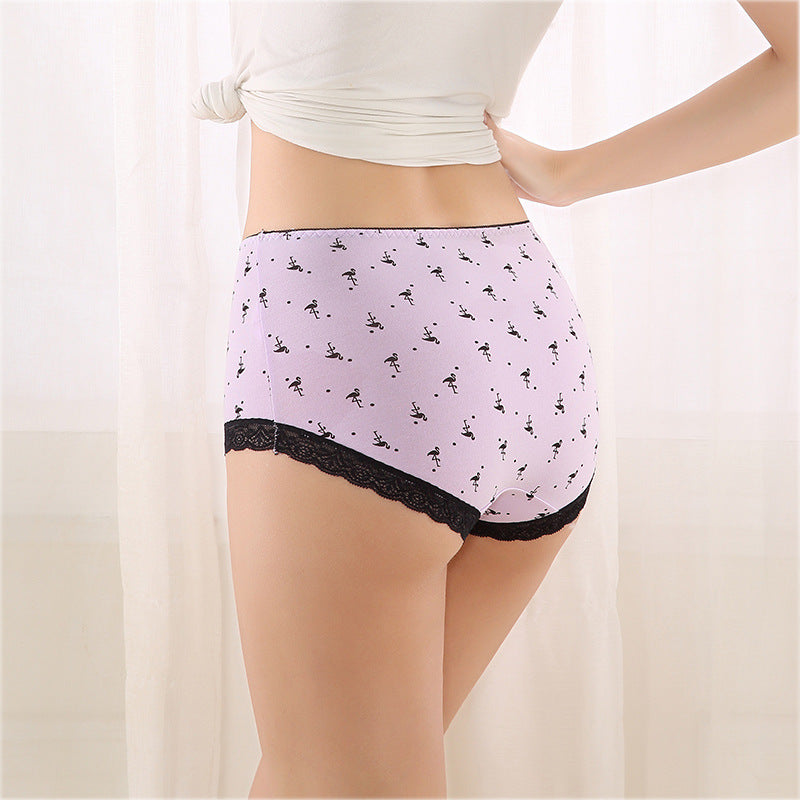 Comfortable Brief High Waist and Buttock Belly in Cotton Underwear