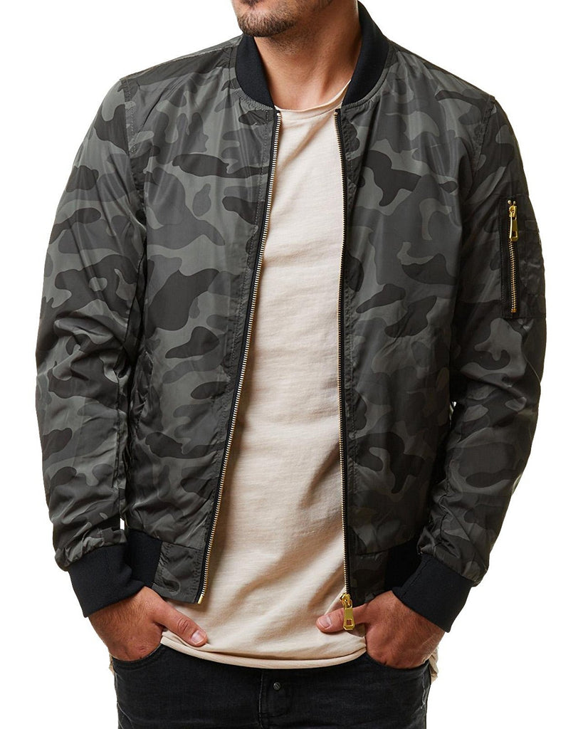 Camouflage Army Military High-Quality Solid Slim Fit Men's Jacket