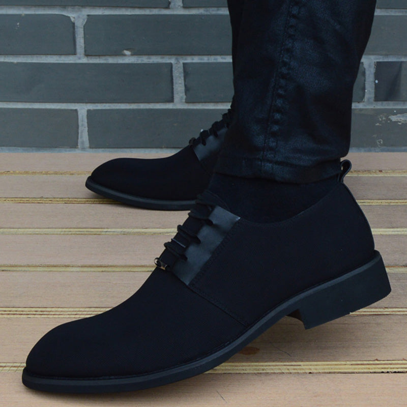Breathable High-Quality Pointed Toe Black Lace Up Men Dress Shoes