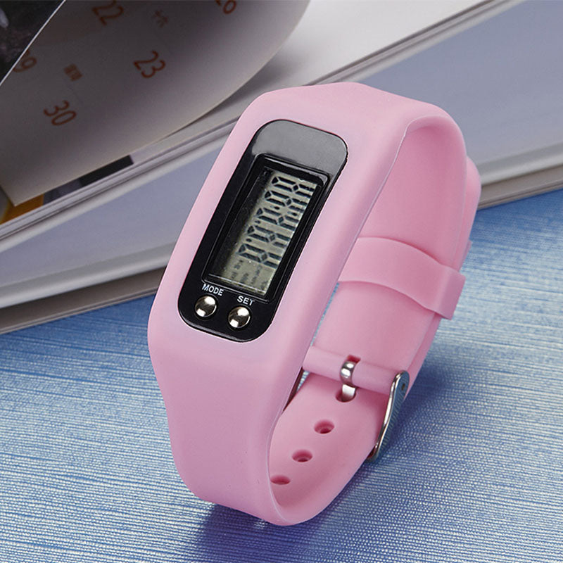 Digital LCD Pedometer Run Step Walking Distance Calorie Counter Sports Watch