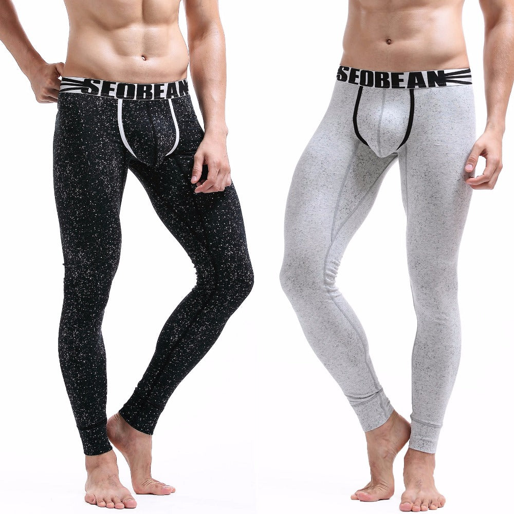 Sexy Cotton Little Point Long Johns Low Rise Thermal Underpants