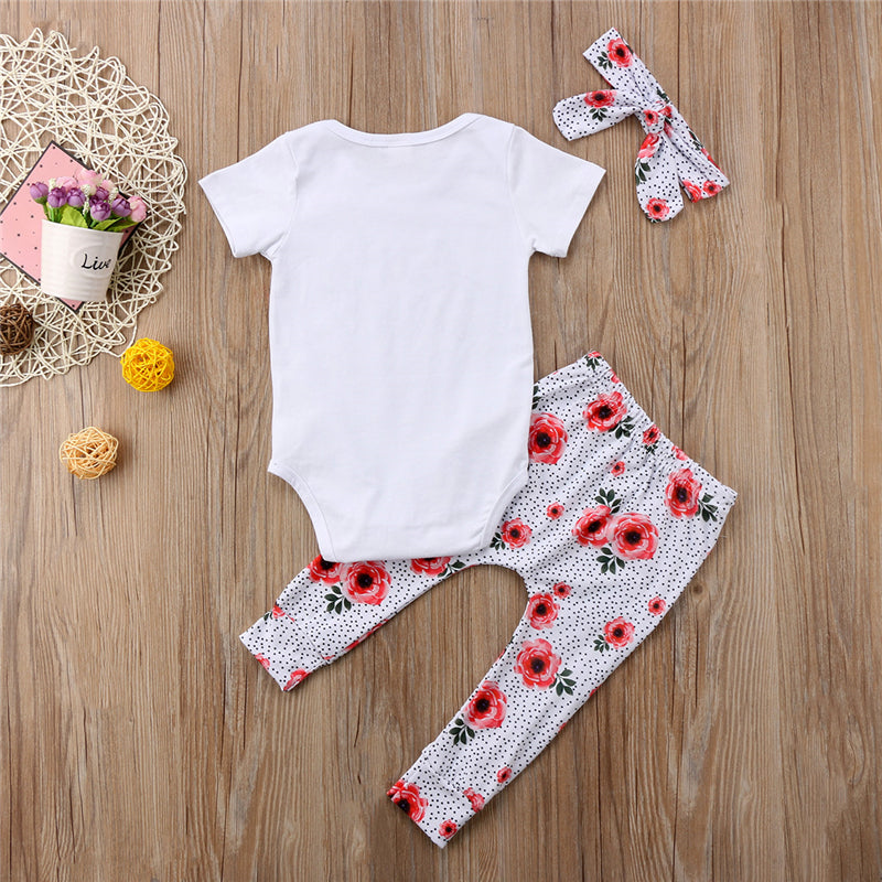 Fashion Cotton Big Sister/Little Sister Printed Floral Sisters Matching Outfit