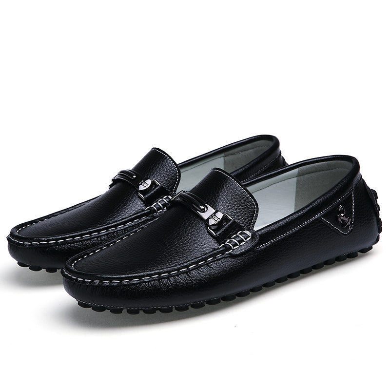 Moccasins Loafers Leather Flat Slip On Driving Genuine Leather Men Shoes