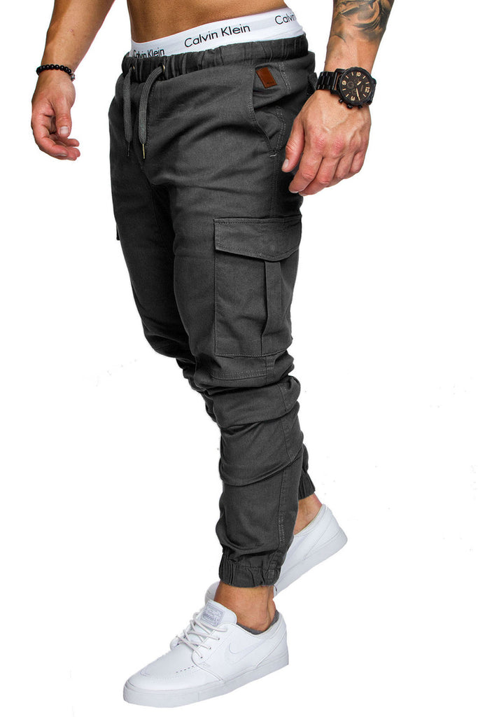 Casual Mid Waist Flat Pencil Sweatpant For Men