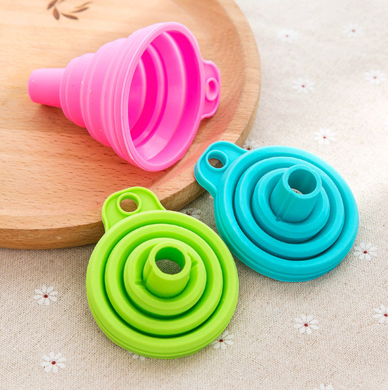 Mini Portable Silicone Foldable Funnel Kitchen Gadgets