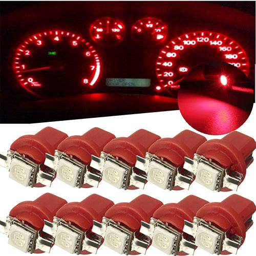 10x B8 5D Gauge LED Car Dashboard Bulbs Width Lamp Panel Light Indicator