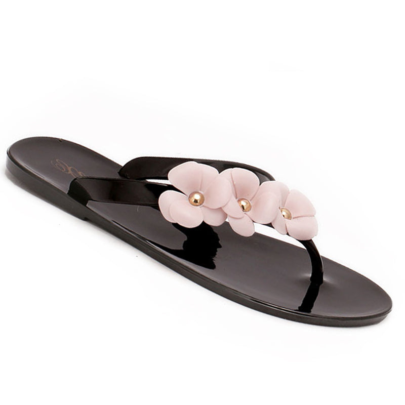 Splendid Women Sandal Flower Flat Heels Flip Flops Shoes