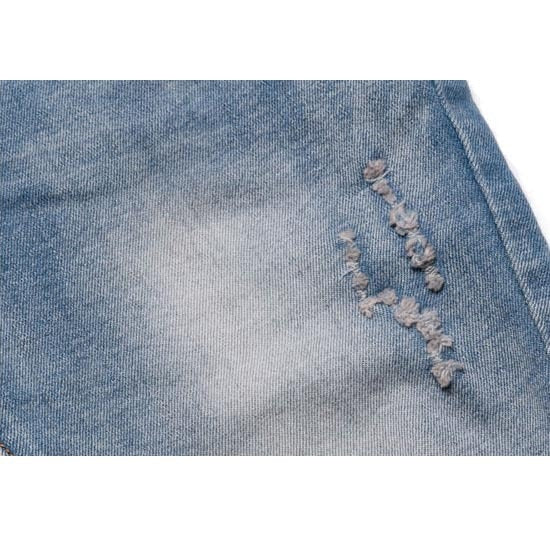 Elastic Waist Loose With Light-Colored Soft Kids Jeans