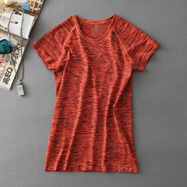 Breathable Quick Dry Sweat Short Sleeve Women Yoga Shirt