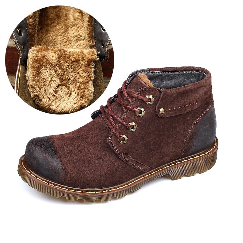 Handmade Cow Suede Leather Men Boot