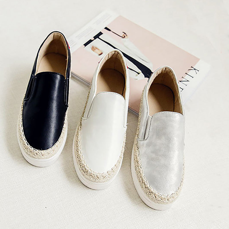 Thick Soles Woman Loafers Korea Women Flats Shoes