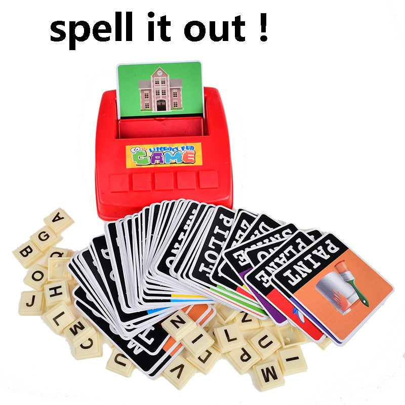 Alphabet Letters Card Literacy Fun Game Learn USA English Language ABC Children Educational Toys