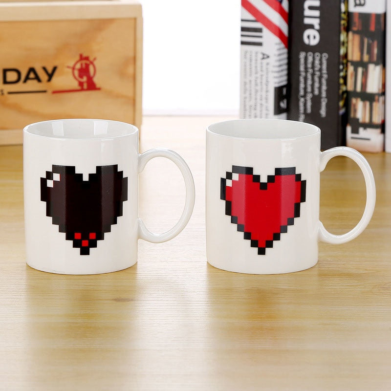 Magic Love /Battery /Bulb /WIFI /Traffic Light Drink Cup Color Changing Mug
