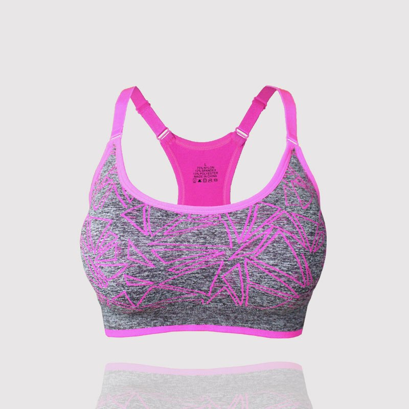 Adjustable Straps Padded Absorb Sweat Quick Dry Sports Bra Stretch Tank Tops