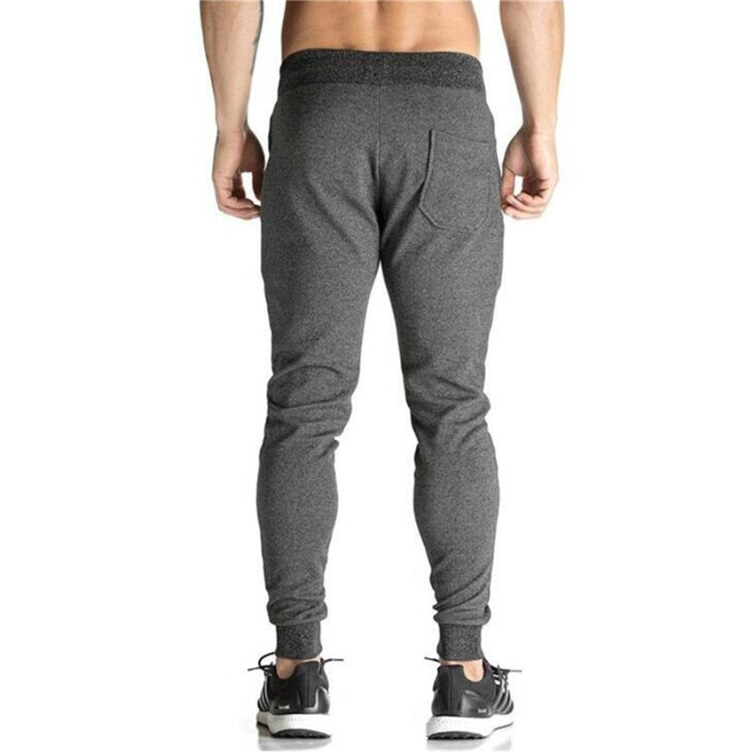 Elastic Waist Cotton Pencil Men Fitness Sweatpant