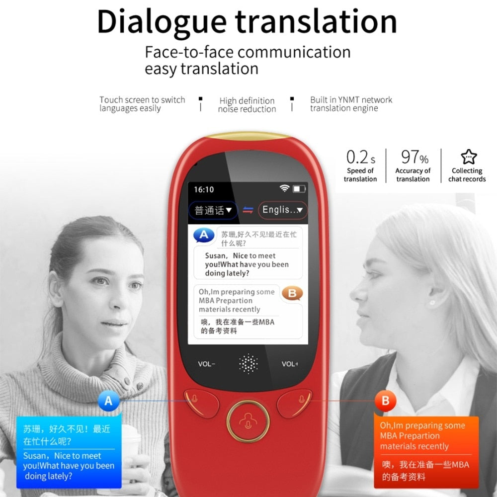 45 Multi-Language 2.0 Inch Screen Voice Smart Translator For Global Travel & Business