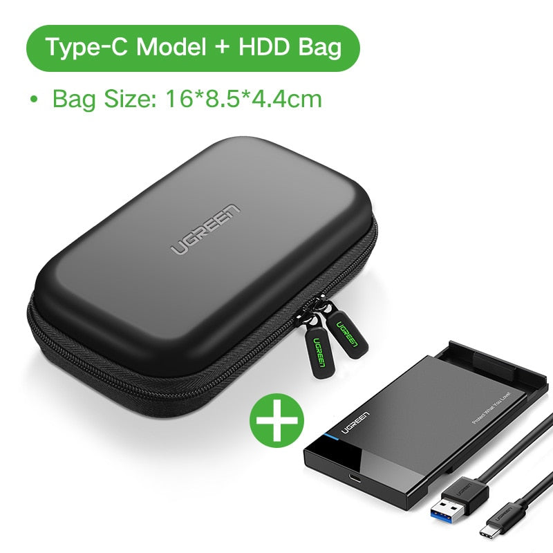 2.5 inch Ugreen HDD Case SATA To USB 3.0 SSD Adapter For Samsung & External Hard Disk Drive Box