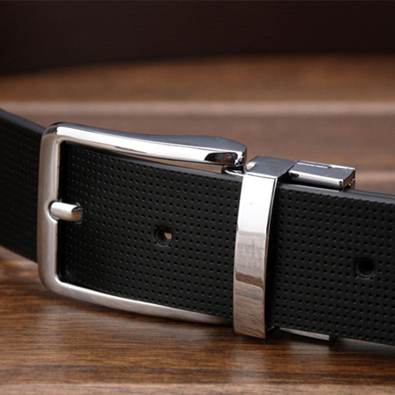 Pin Buckle Genuine Leather Men Belt