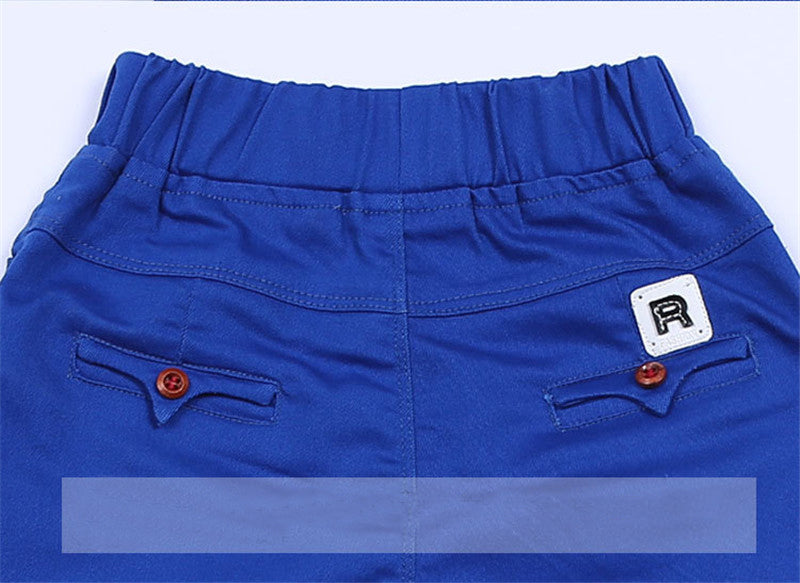 4-14 Yrs Elastic Waist High-Quality Cotton Teenage Boys Pant