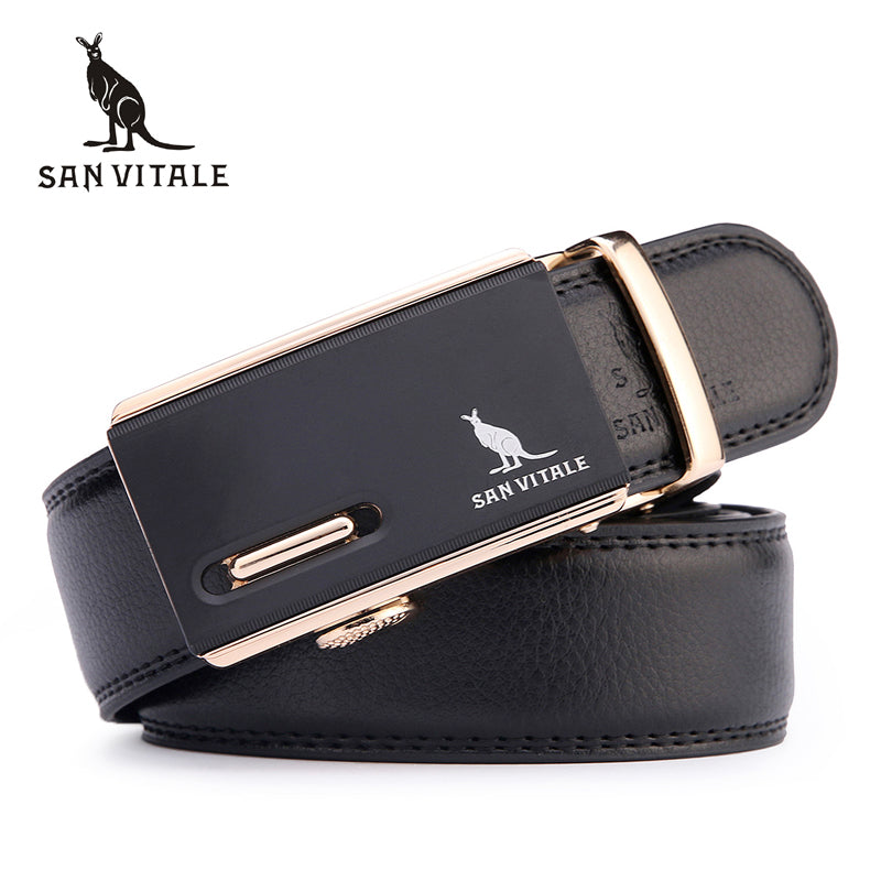 Automatic Buckle Leather Men Belt