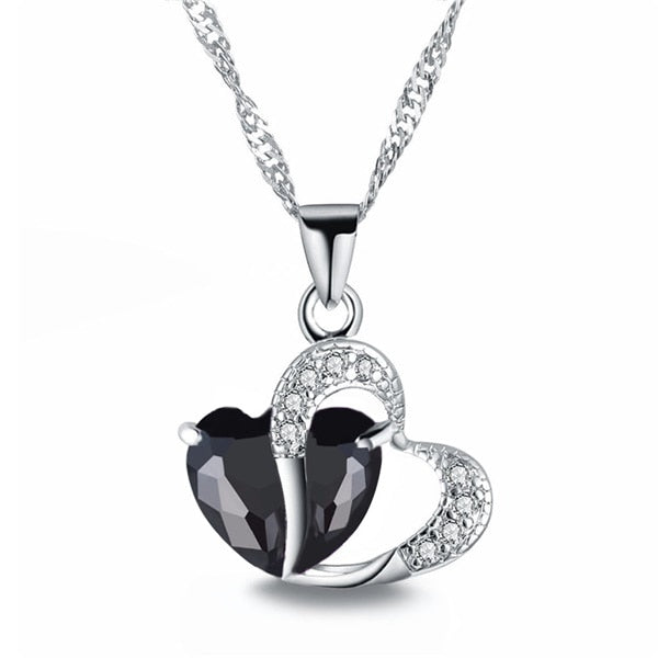 Fashion Crystal Heart Pendant Necklace For Women