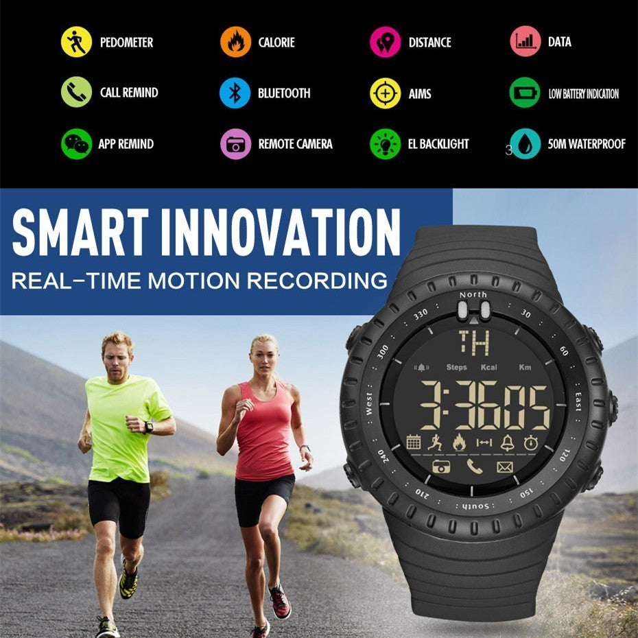 GIMTO Bluetooth Pedometer Stopwatch Digital LED Electronics Sport Smart Watch For Men