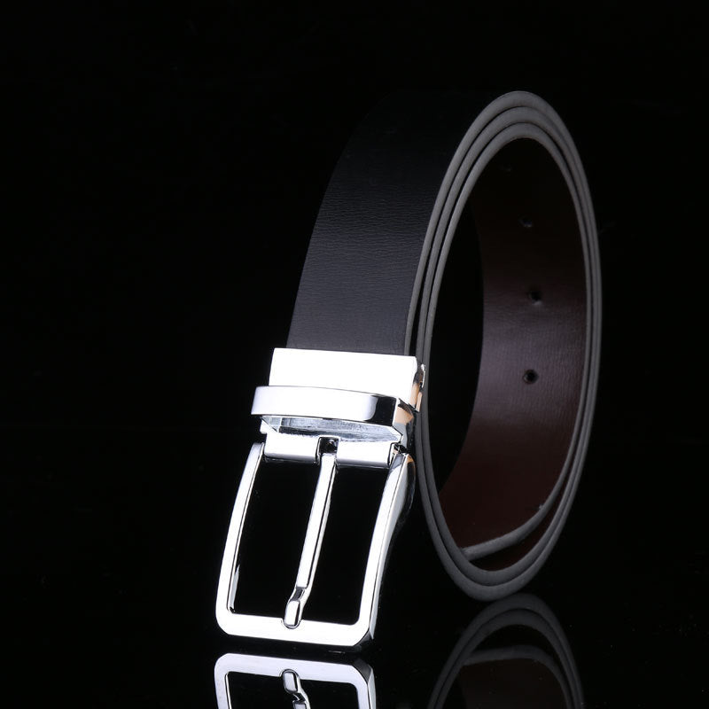 Designer Pin Buckle Leather Luxury Belt