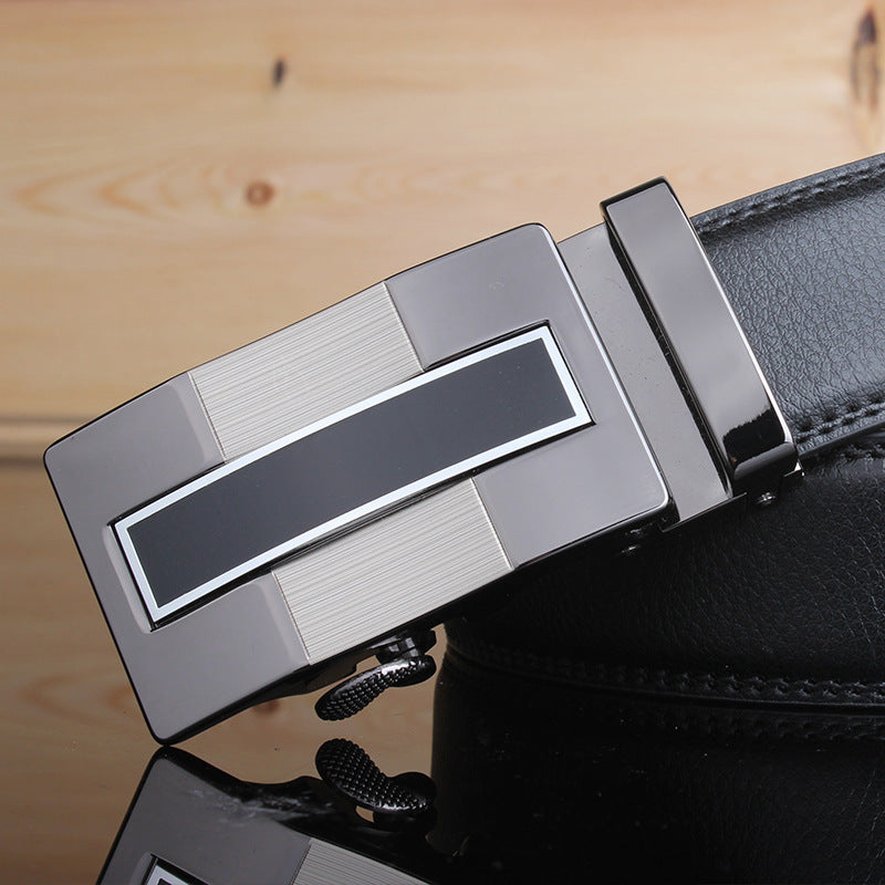 Trend Designer Leather Strap Automatic Buckle Belt