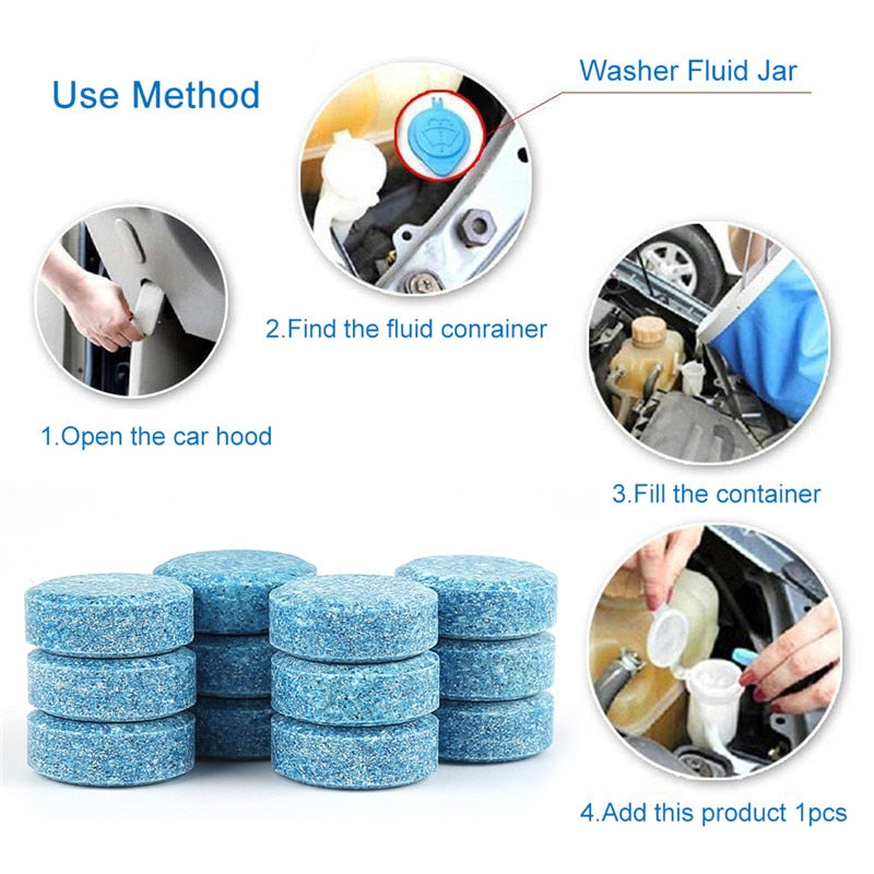 10Pcs/Pack Car Window Cleaning Wiper Solid Fine Seminoma & Home Window Cleaner