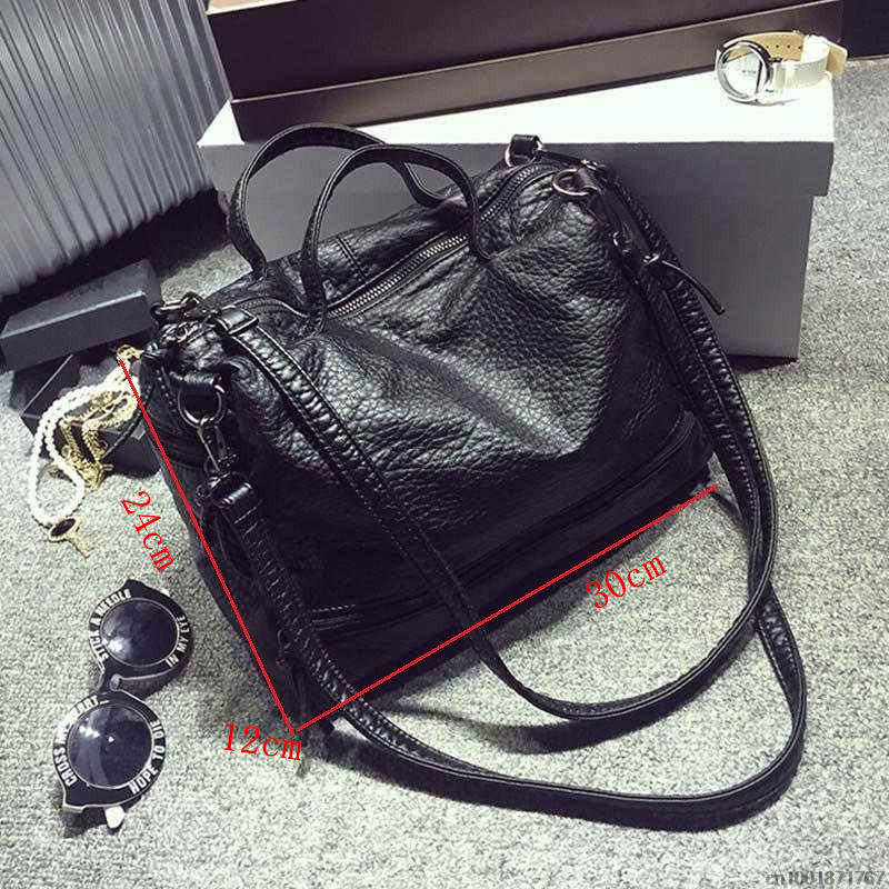 Waterproof PU Leather Crossbody Vintage Women Bag