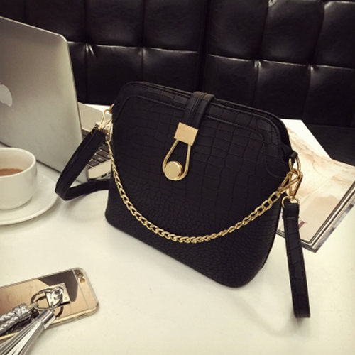Vintage Crocodile PU Leather Women Bag