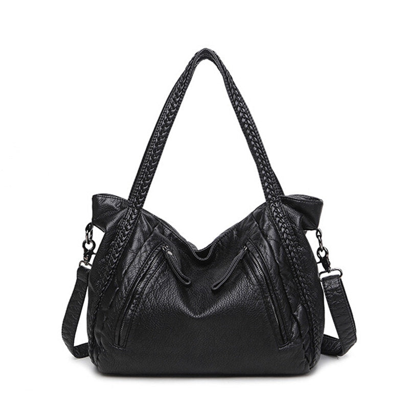 High Quality Soft PU Material Top-Handle Waterproof Women Bag
