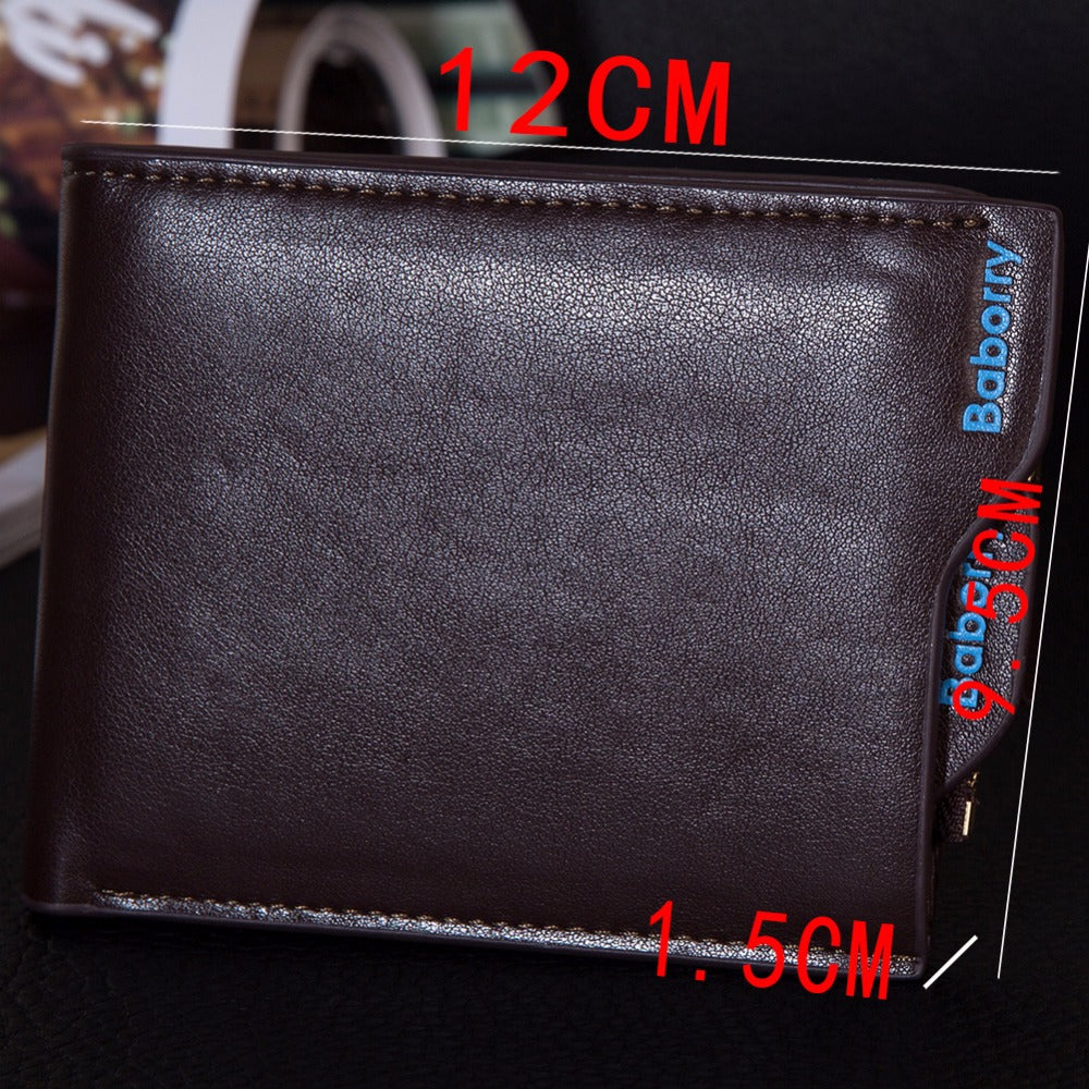 Classic Solid Pattern Wallet For Men