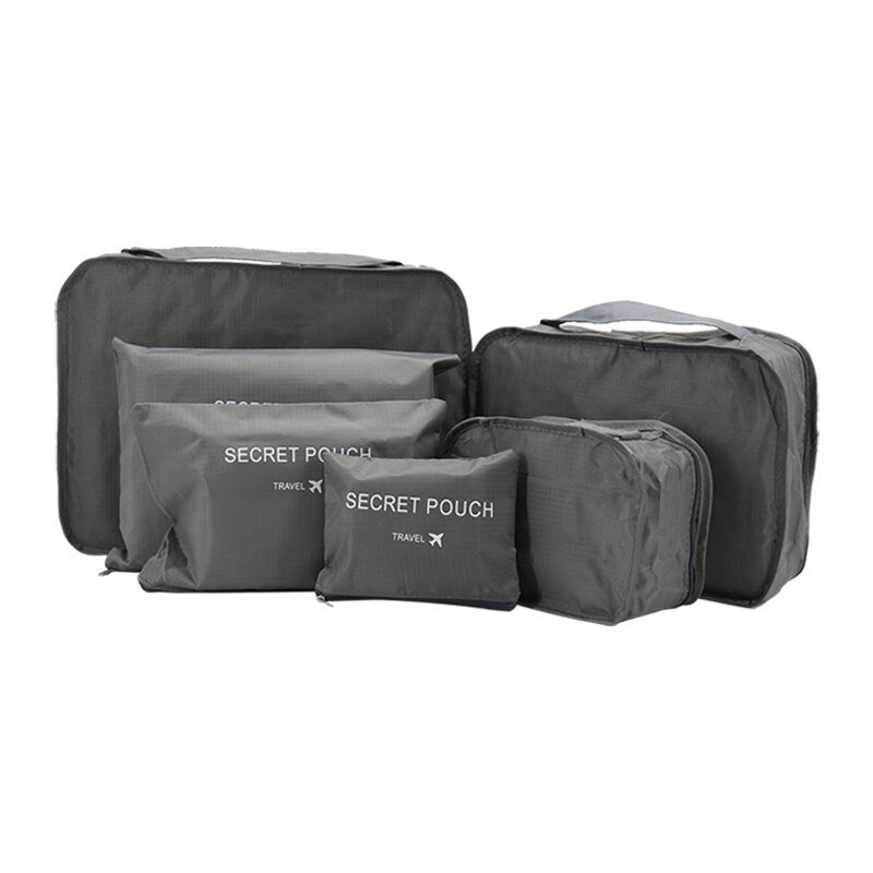 Waterproof Nylon Mesh Travel Storage Bag Set For Clothes