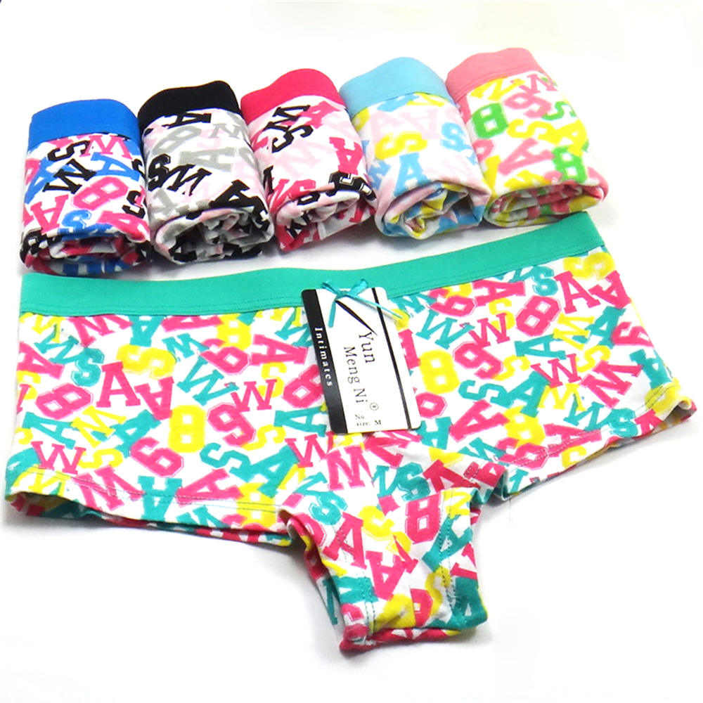 3 Pcs/Lot Sexy Low-Rise Kawaii Printed Cotton Women's Panties