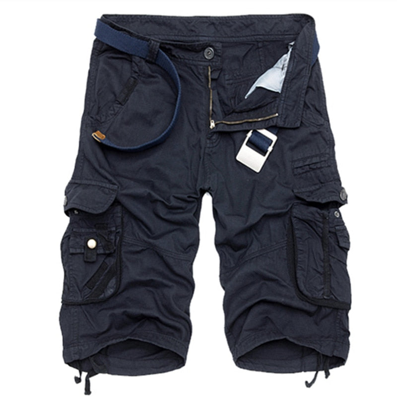Cool Comfortable Camouflage Cotton Summer Cargo Shorts For  Men