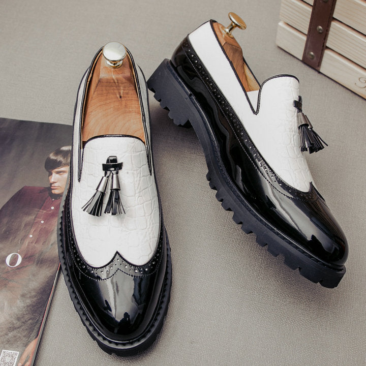 Comfortable Breathable Slip-On Leather Office Shoes For Men