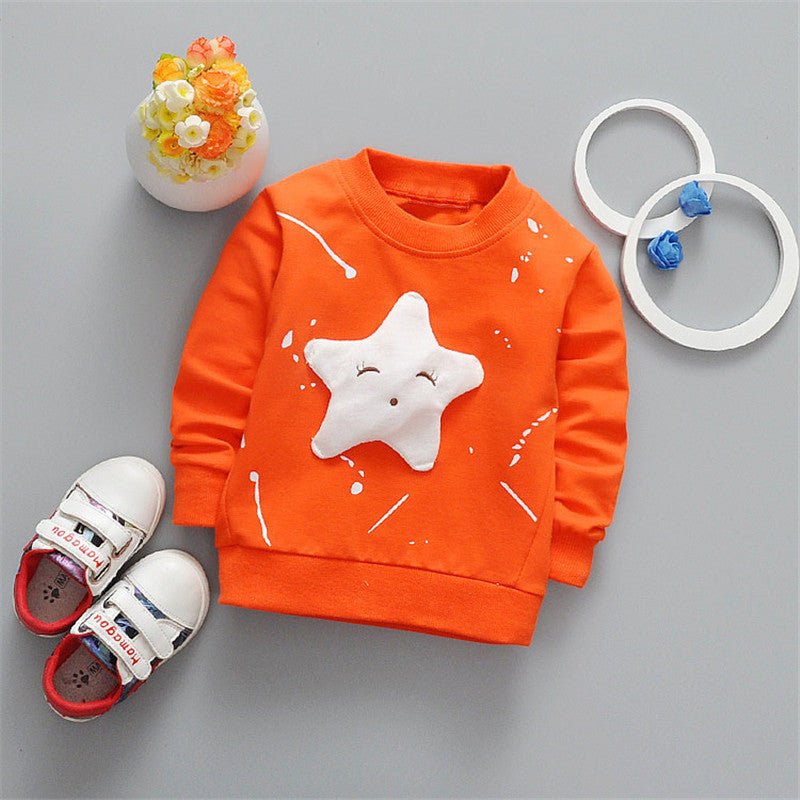Long Sleeve Star Pattern Sports T-Shirts