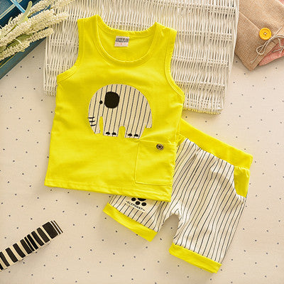 Cartoon 3 Design Casual Clothing Set Vest + Pants