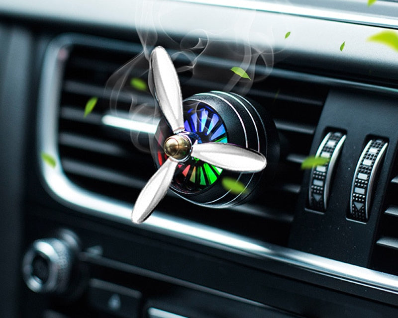 Car Smell LED Mini Conditioning Vent Outlet Air Freshener