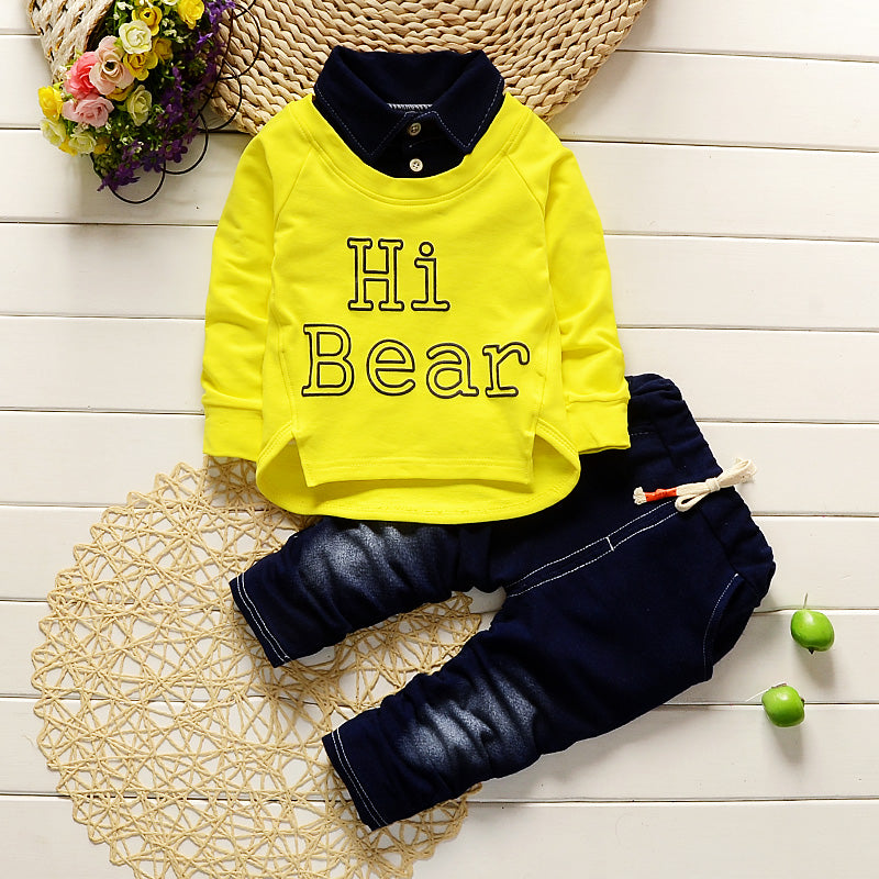 Boys Casual Kid Clothing Sport Suit Set